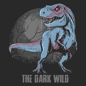 Dinosaurio salvaje salvaje t-rex capas editables vector ilustración