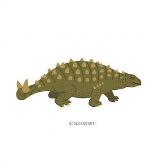 Dinosaurio scolosaurus. ilustración de scolosaurus