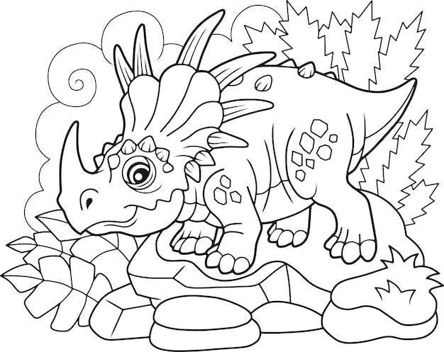 Dinosaurio styracosaurus