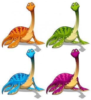 Dinosaurios con cuello largo.