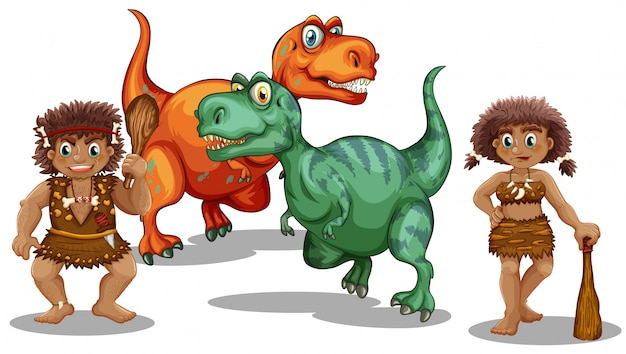 Dinosaurios y cuevas.