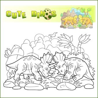 Dinosaurios de dibujos animados