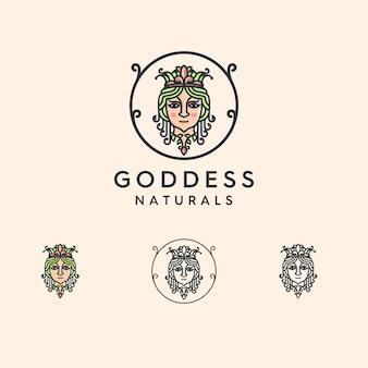 Diosa logo ilustrado