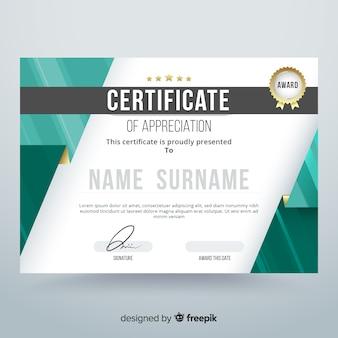 Diploma de agradecimiento