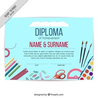 Diploma artístico de niños