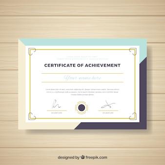 Diploma en diseño abstracto