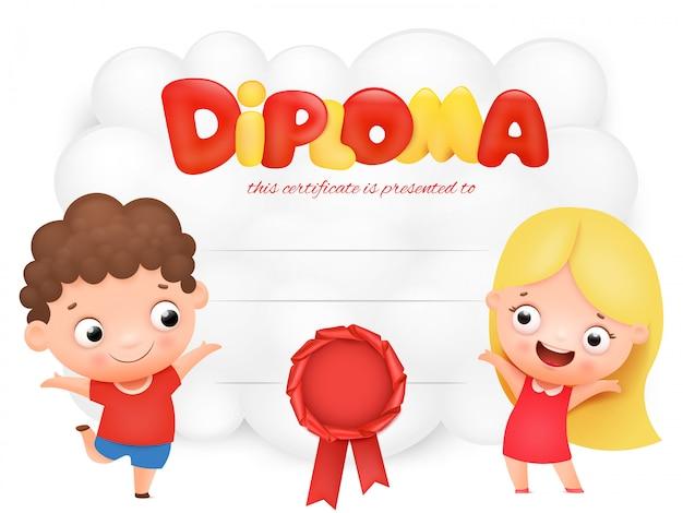 Diploma preescolar para niños
