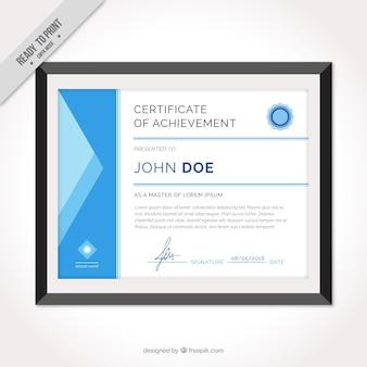 Diploma de reconocimiento con marco