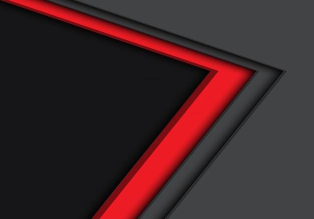 Dirección de flecha gris rojo con fondo de espacio en blanco.