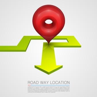 Dirección de la ruta de navegación de la flecha. ilustración vectorial