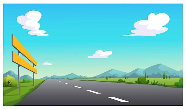 Direcciones de viaje en el camino.