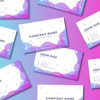 Director de diseño de tarjeta de presentación con foto