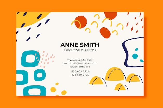Director ejecutivo plantilla de tarjeta de visita