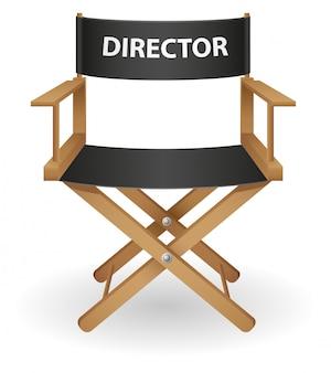 Director de película silla ilustración vectorial