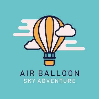 Dirigible de globos de aire caliente plano