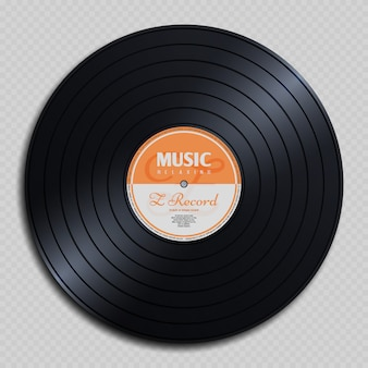 Disco de audio análogo de vinilo vintage.