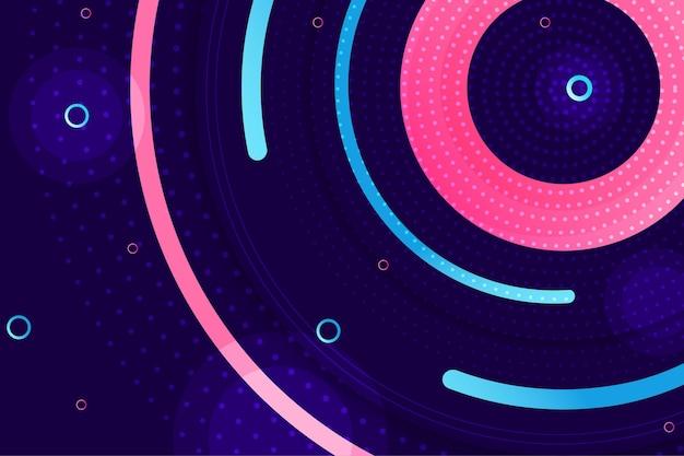 Disco circular de fondo abstracto de semitono