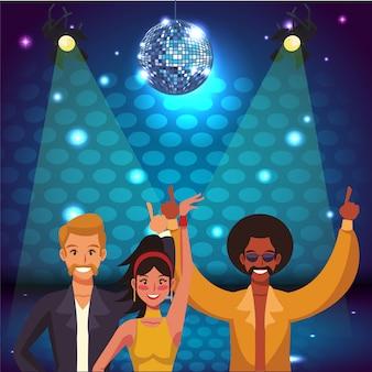 Disco mujeres cantando y bailando en el escenario