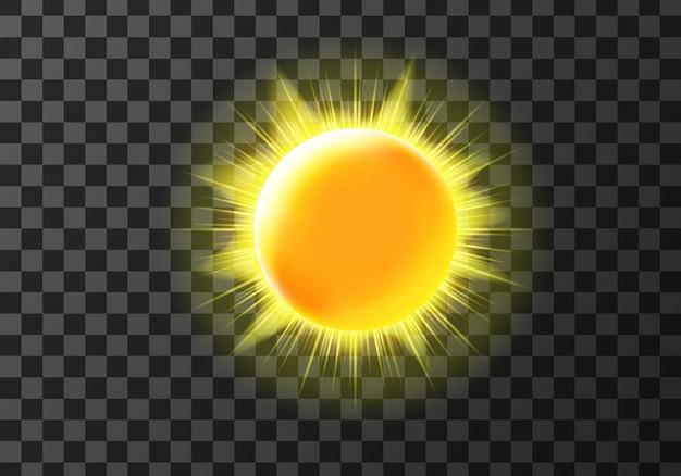 Disco solar con rayos