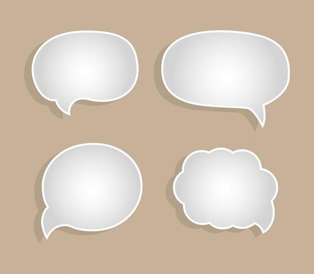 Discurso burbuja de dibujos animados - diálogo, mensajes de comunicación