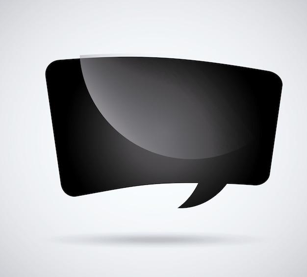 Discurso de burbuja negro