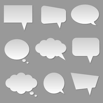 Discurso de burbuja de nube en blanco blanco aislado