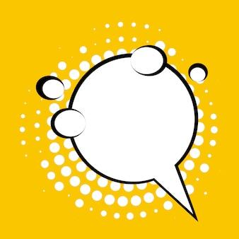 Discurso de burbujas cómicas con sombras de semitono.