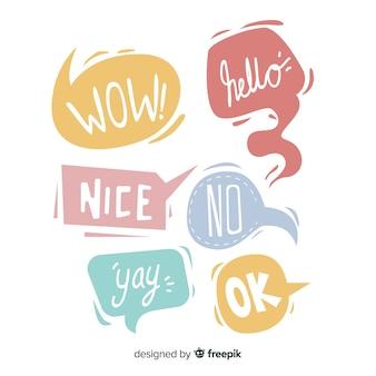 Discurso de burbujas con mensajes conversacionales