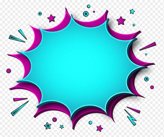 Discurso de dibujos animados rosa-amarillo burbujas fondo transparente