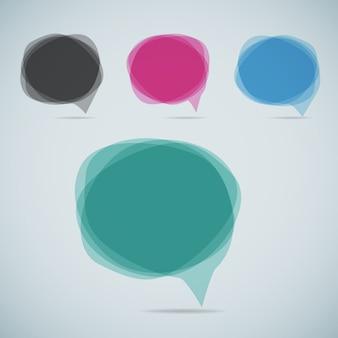 Discurso moderno conjunto de burbujas