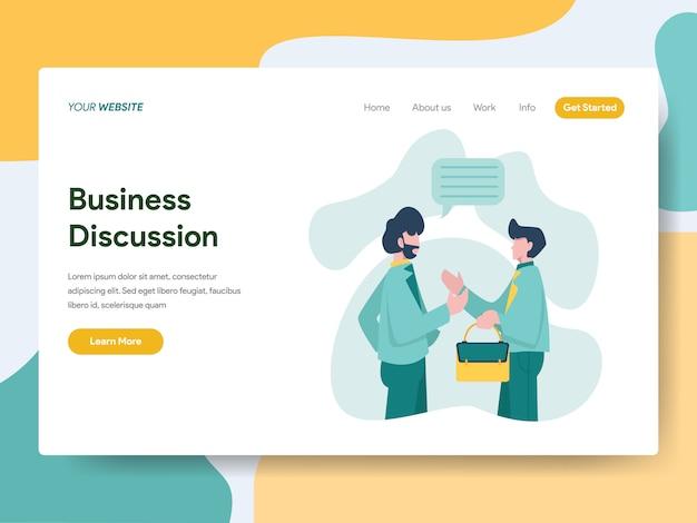 Discusión de negocios para la página web