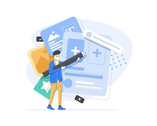 Diseñador de una aplicación o ilustración de una página web