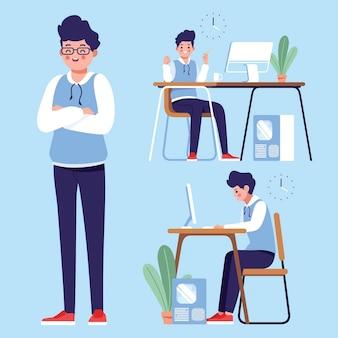 Diseñador trabajando lejos de casa