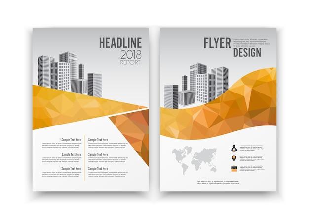 Diseñe la plantilla del negocio del informe anual del diseño del aviador del folleto del cartel del libro de la cubierta del diseño.