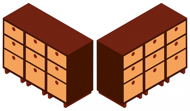 Diseño 3d para gabinetes de madera