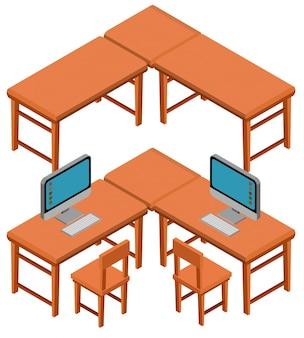 Diseño 3d para mesas y sillas