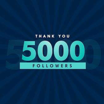 Diseño de 5000 seguidores