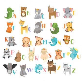 Diseño de abecedario con animales
