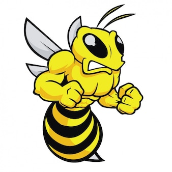 Diseño de abeja enfadada