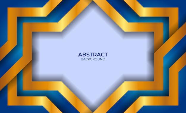 Diseño abstracto azul y oro