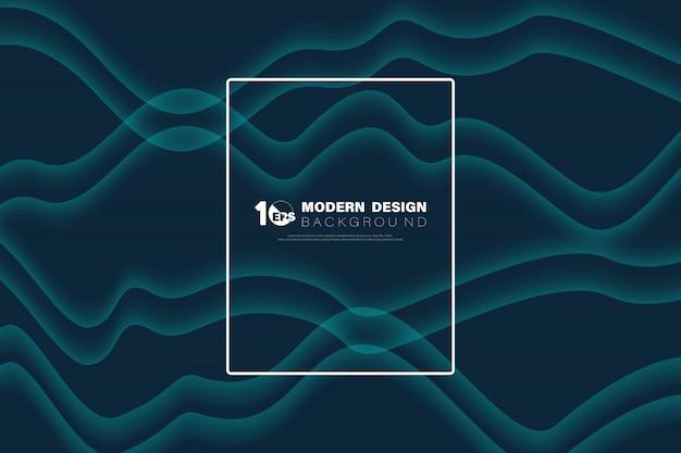 Diseño abstracto azul patrón ondulado de fondo de la decoración.