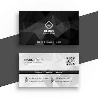 Diseño abstracto blanco y negro de la tarjeta de visita