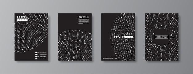 Diseño abstracto de la cubierta y folleto.