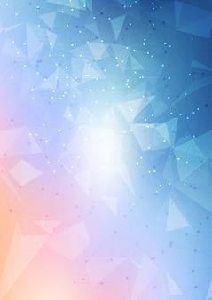 Diseño abstracto de fondo de malla baja poli