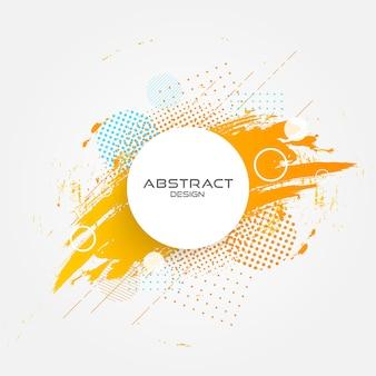 Diseño abstracto del grunge del círculo.