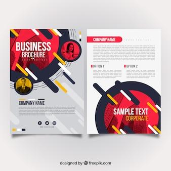 Diseño abstracto  de folleto de negocios