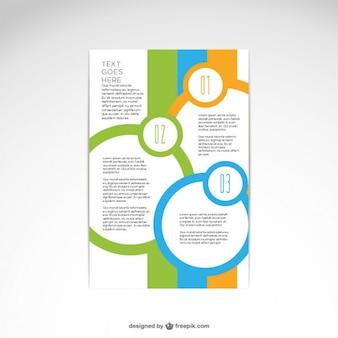 Diseño abstracto de folleto