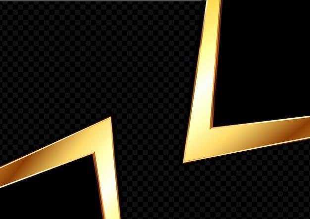 Diseño abstracto de fondo dorado y negro