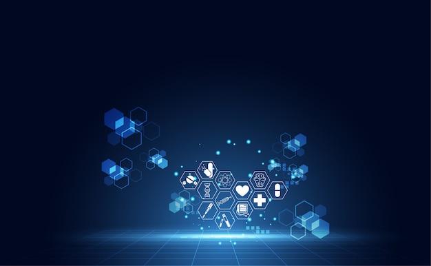 Diseño abstracto del fondo de la innovación médica de la salud
