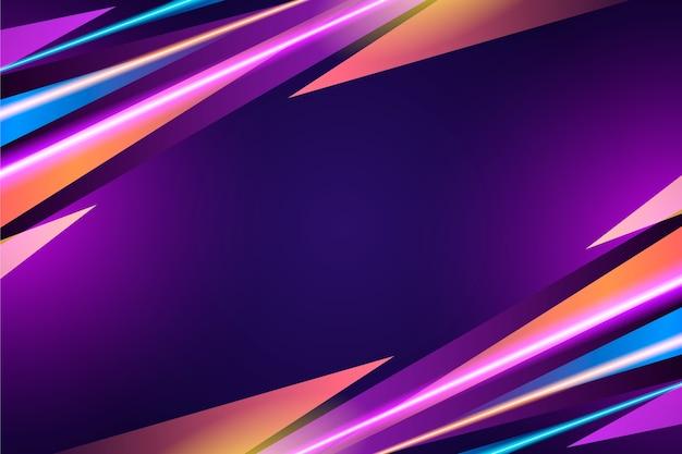 Diseño abstracto de fondo de luces de neón